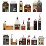 Decorative houses set — Stock Vector #7390132