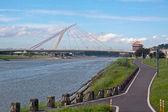 Dazhi Bridge over the Keelung River — Stock Photo