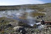 Hot geothermal water — Stock Photo