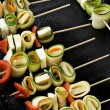 Vegetable skewers — Stock Photo #7927444