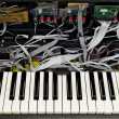 Synthesizer, electronik keyboard — Stock Photo