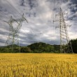 Stock Photo: High voltage power lines
