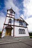 Wooden church in Husavik — Stock Photo