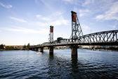 Ophaalbrug in portland — Stockfoto