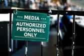 """Media personnel only"" — Stock Photo"