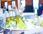 White wine on ice — Stock Photo