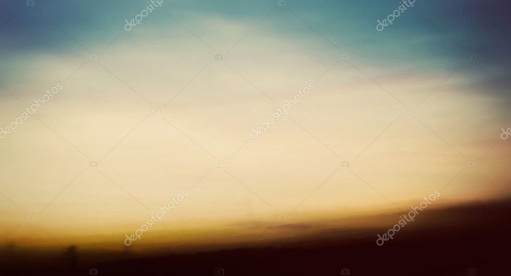 Abstract, long exposure image of a sunset on the beach. — Stock Photo #6911709