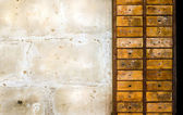 Rustic old wooden drawers — Stock Photo