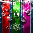 New year and for Christmas colorful design — Stock Vector #7858329