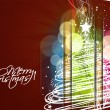 Cтоковый вектор: New year and christmas colorful design