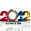 New year 2012 poster — Stock Vector