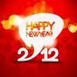 New year 2012 poster — Stock Vector #7858566