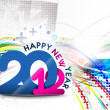 New year 2012 poster — Image vectorielle