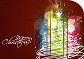 New year and christmas colorful design — Stockvector