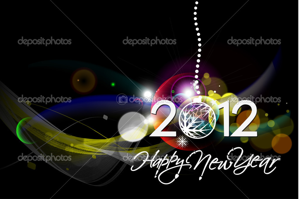 New year 2012 poster background. Vector illustration  Stock Vector #7858651
