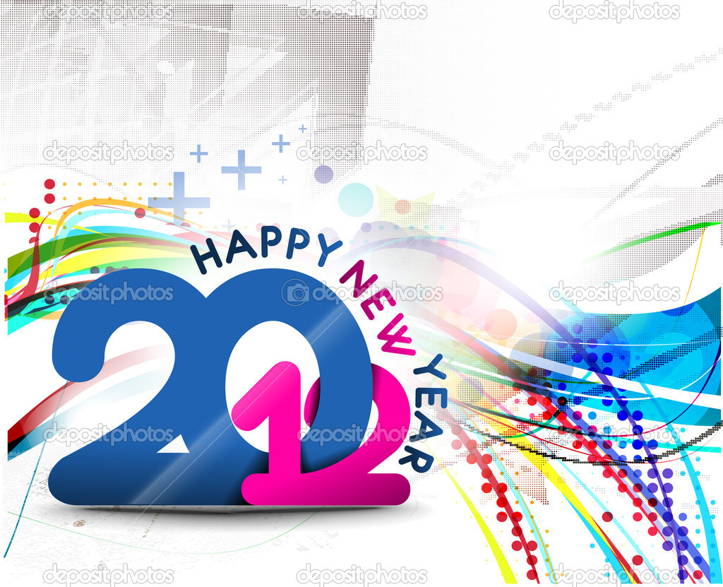 New year 2012 poster background. Vector illustration — Stock Vector #7858684