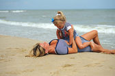 Donna con un bambino — Foto Stock