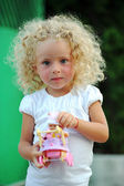 Criança loira linda — Foto Stock