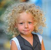 Beautiful blond child — Stock Photo