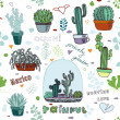 Cactus background — Stock Vector