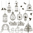 Vector de stock : Birdcage set.