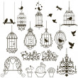 Birdcage set. - Stok Vektr