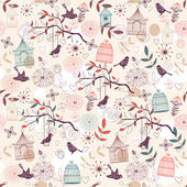 Birds pattern — Vettoriale Stock