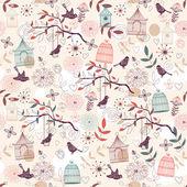 Vogels patroon — Stockvector