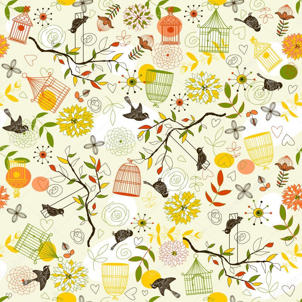 Nature Pattern with bi...