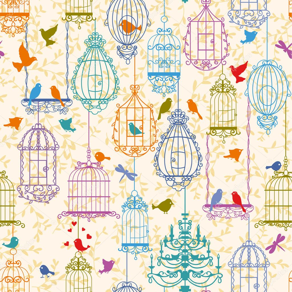 Impressive Vintage Birds and Cages 1024 x 1024 · 549 kB · jpeg