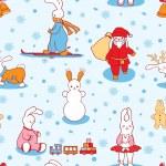 The bunny winter — Stock Vector