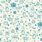Baby bunny tea — Stock Vector