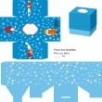 Christmas Gift box template — Stock Vector