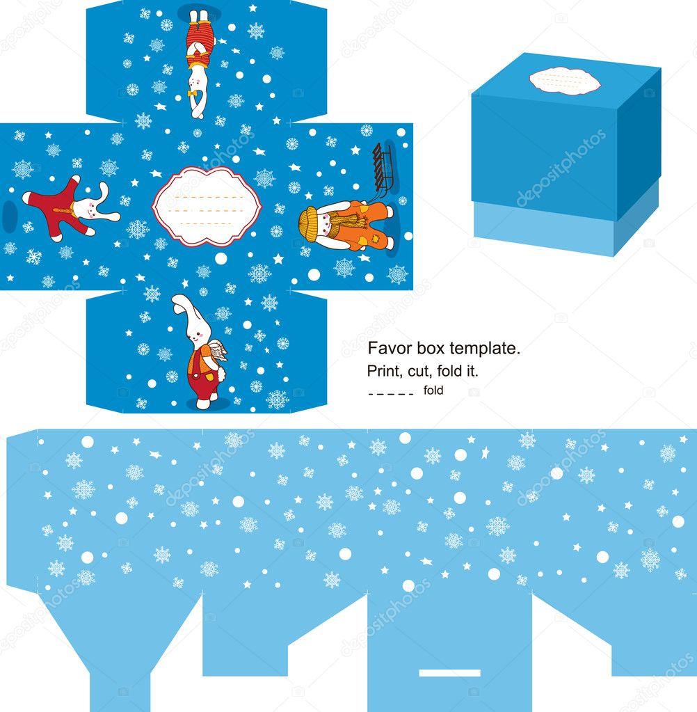 christmas gift box template stock vector © yaskii 7364450 christmas gift box template stock illustration