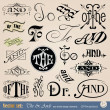 Vector thes, tos & ands - Stock Vector