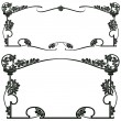 Framework s in style art-nouveau - Vettoriali Stock 