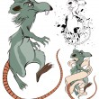 Stock Vector: Cartoon Rat