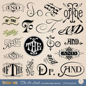 Vector thes, tos & ands — Stock Vector