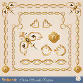 Set of chain elements — Stock Vector