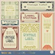Vintage style labels - Stockvectorbeeld