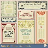 Vintage style labels — Vector de stock