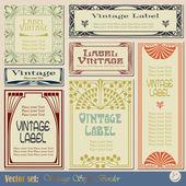 Vintage tarzı etiketleri — Stok Vektör