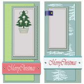 ビンテージ スタイルの背景クリスマスと冬のテーマ — ストックベクタ