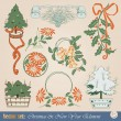 Vector design elements - Happy Christmas And New-Year's - Stock Vector