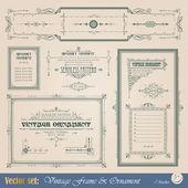 Dekorativní prvky — Stock vektor