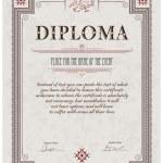 Постер, плакат: Diploma template