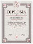 Diploma template — Stock Vector