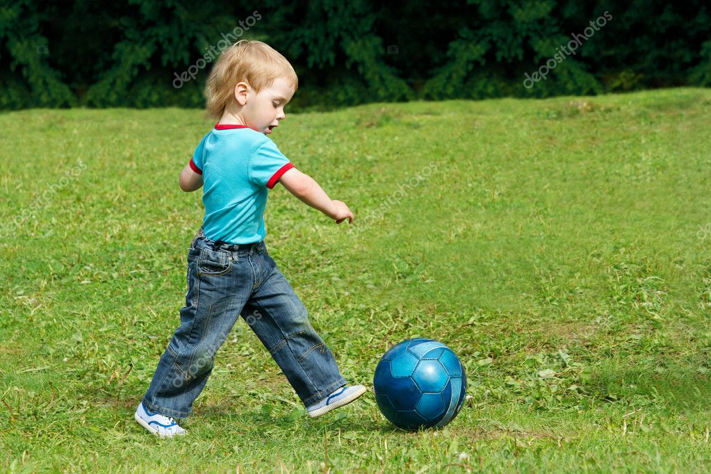 Child Playing At Park