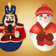 Christmas Ornaments - Vettoriali Stock
