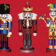 Christmas Nutcrackers — Stockvectorbeeld